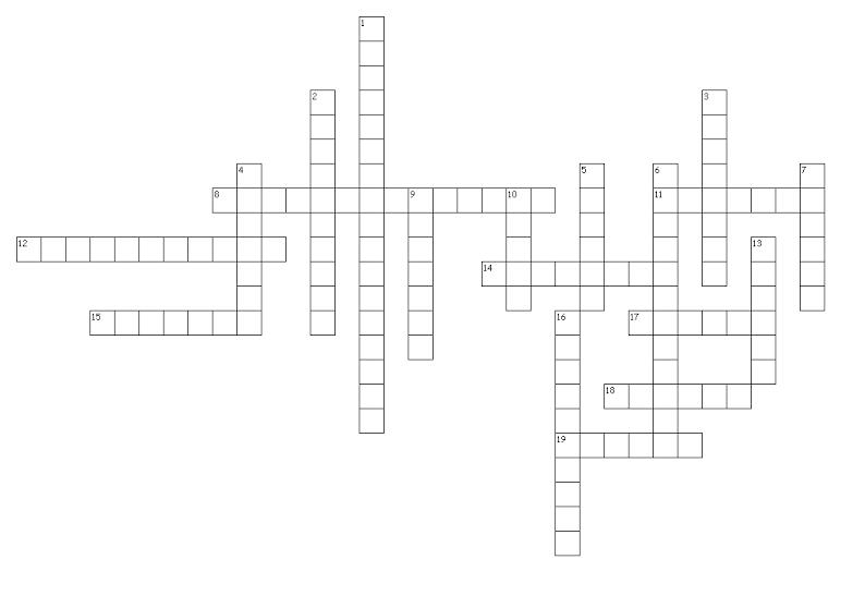 Crossword Puzzle Hints!