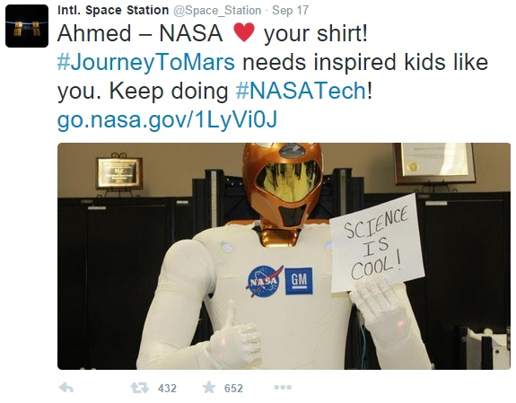 NASA_tweet_to_student_Ahmed_Mohamed