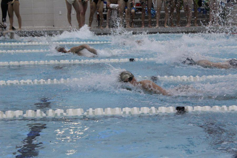 Photo Exclusive: Boys and girls swim teams celebrate Senior Night with wins