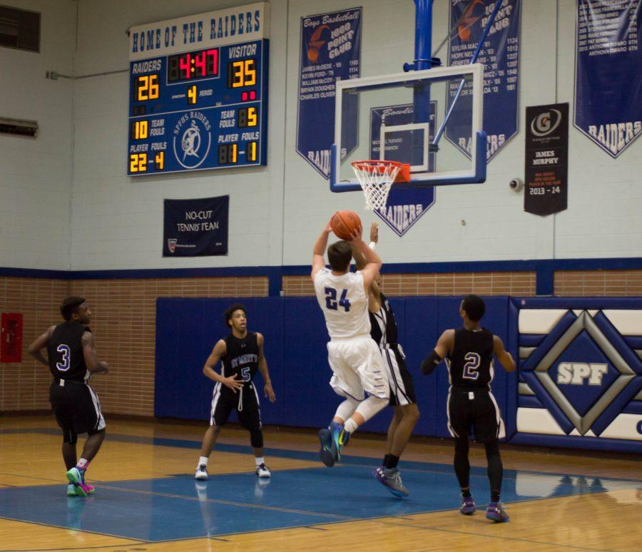 Boys' varsity is defeated by St. Mary's in promising game