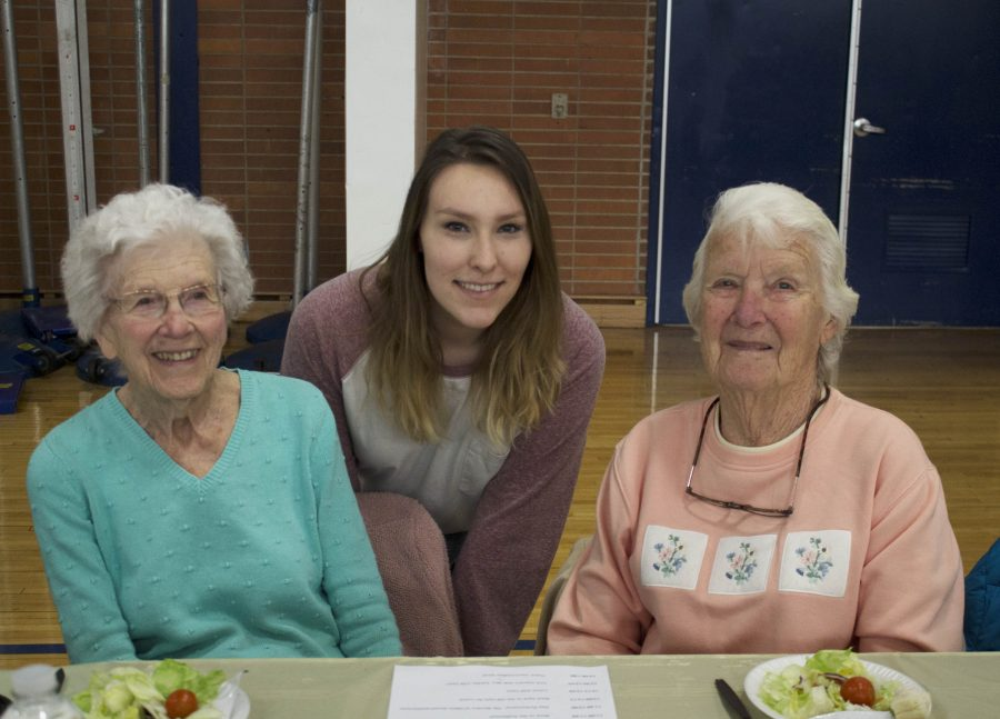 Students welcome the elderly during Senior Citizens Day