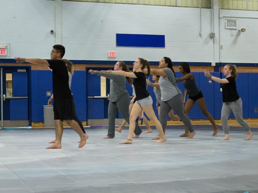 Winter colorguard team tackles new theme
