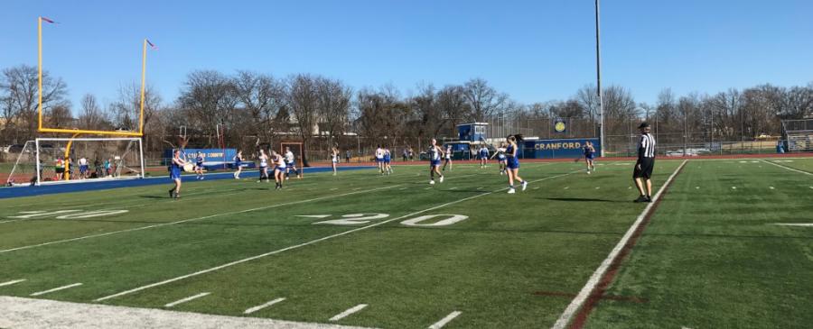 Girls lacrosse lose to Cranford, 15-8