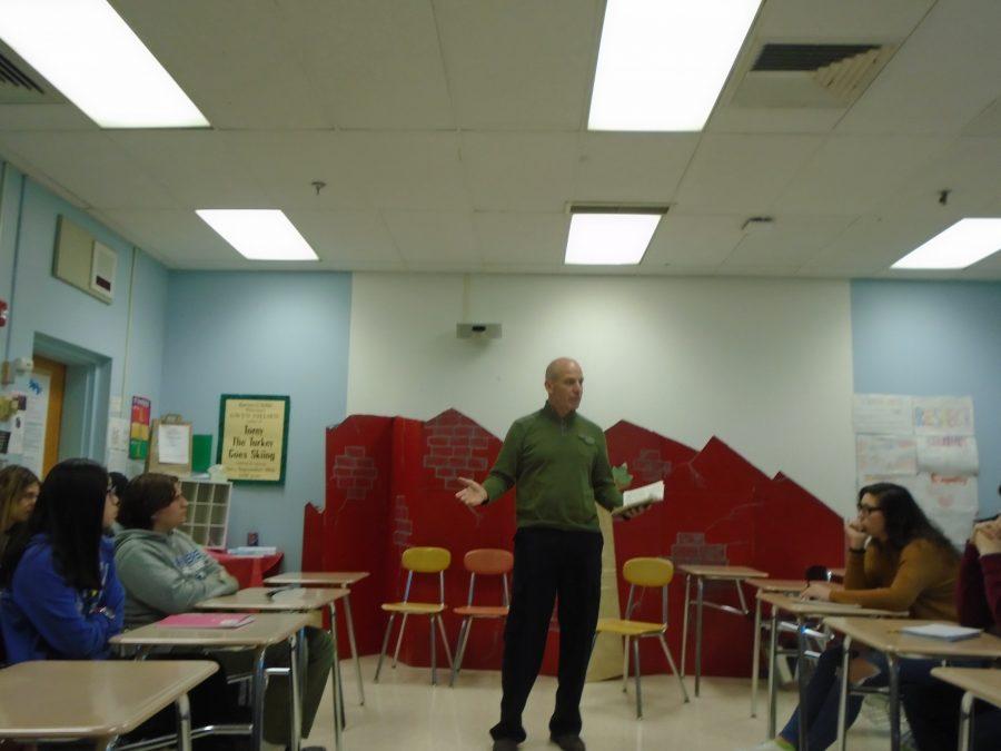 Guest teacher enlightens junior English class