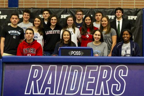 College signing day at Scotch Plains-Fanwood High School