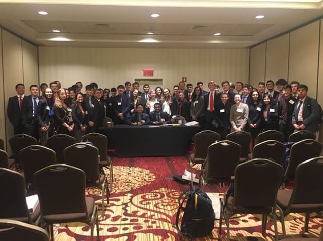 The Scotch Plains Youth and Government Delegation attends YAG Conference