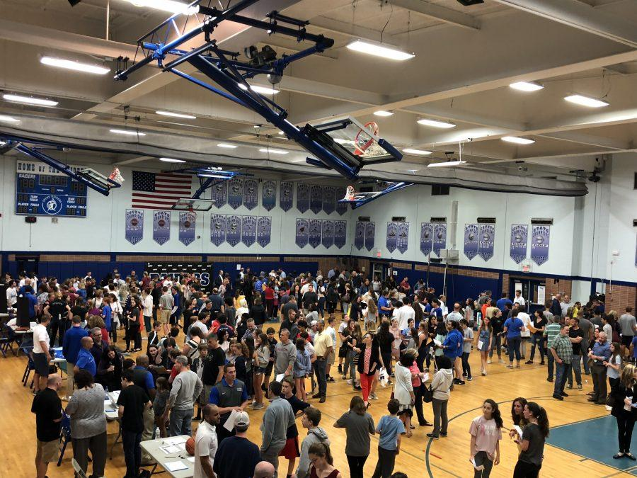 Middle schoolers take their first step into high school athletics at Meet the Coaches Night