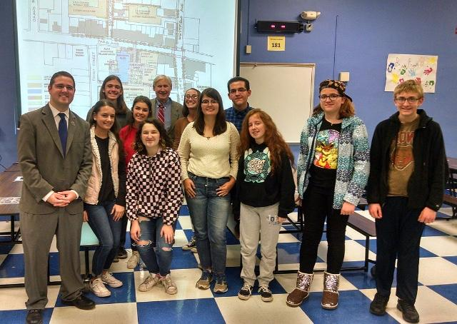 JSA students see the bright future planned for downtown SPF