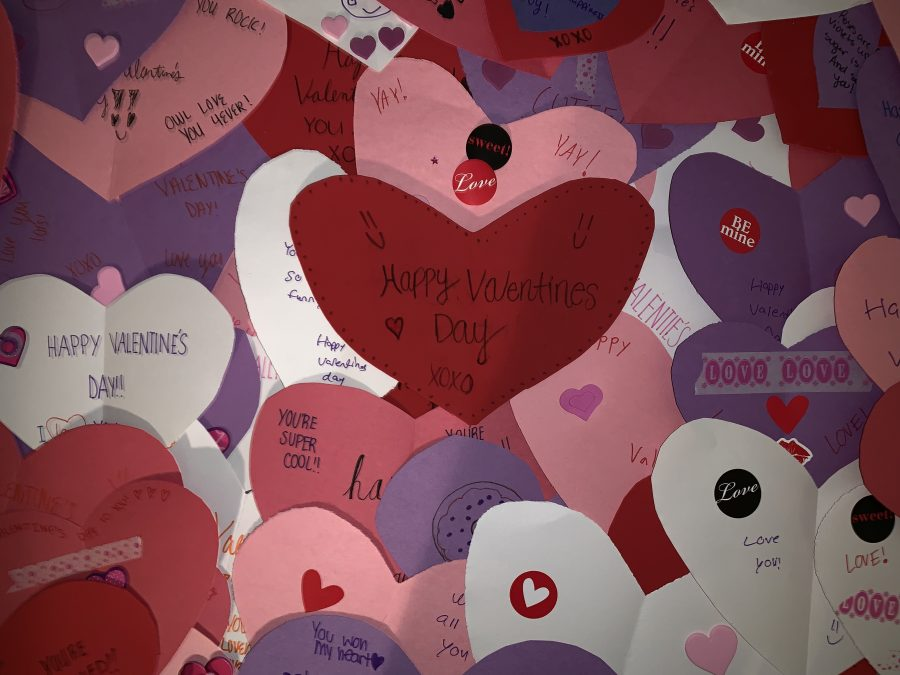 FBLA members make and deliver Valentine's Day cards to senior citizens