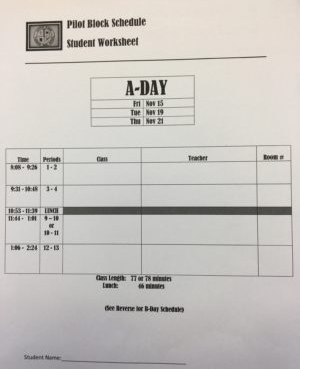 Scotch Plains - Fanwood High School prepares for the pilot block scheduling