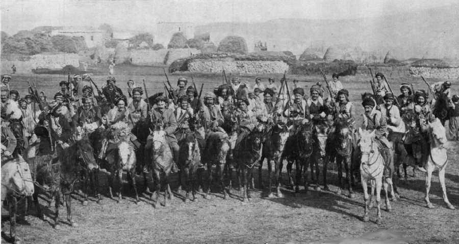 A Kurdish Cavalry regiment of The Ottoman Empire during World War 1, although many Kurds fought valiantly for the empire, their contributions to the war have been heavily downplayed by Turkey since the nations founding. Via Wikimedia Commons