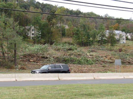 Property on Route 22 cleared of trees by developer