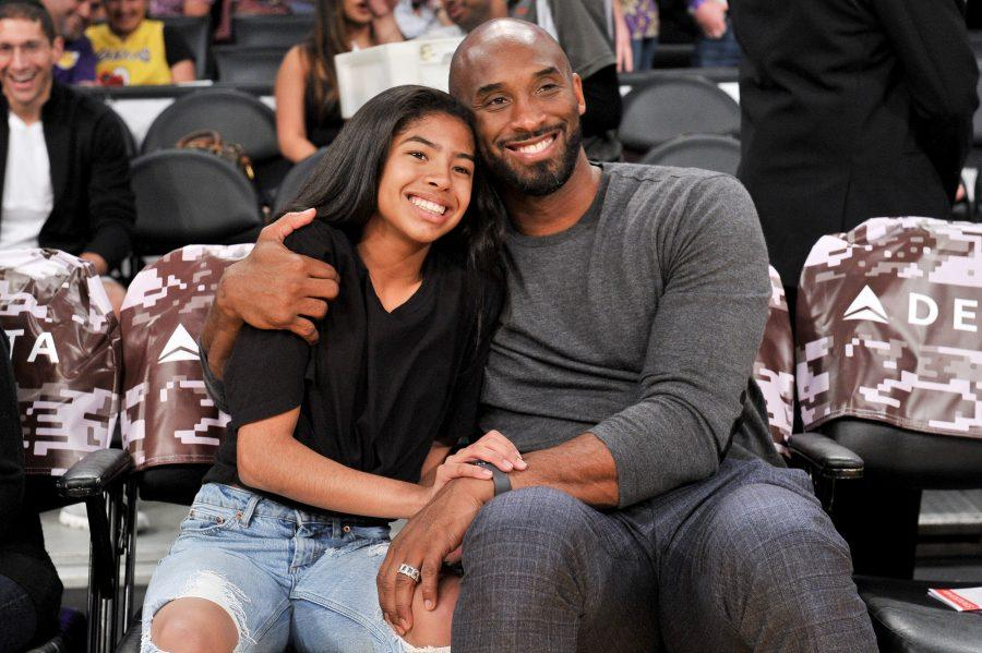 LOS ANGELES, CALIFORNIA - NOVEMBER 17: Kobe Bryant and his daughter Gianna Bryant attend a basketball game between the Los Angeles Lakers and the Atlanta Hawks at Staples Center on November 17, 2019 in Los Angeles, California. (Photo by Allen Berezovsky/Getty Images)