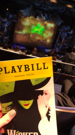 "Music department students enjoy ""One Short Day"" in NYC to see ""Wicked!"""