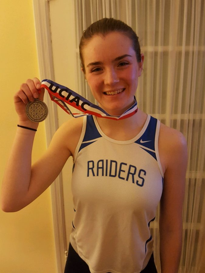 SPFHS Winter Track and Field member breaks school record