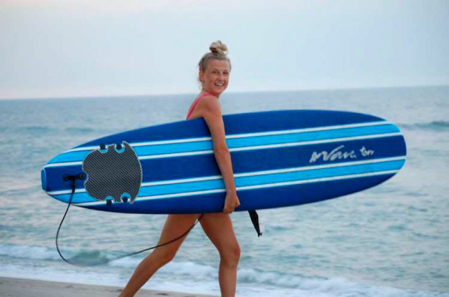 Senior Carly Rinaldi surfs her way through the summer
