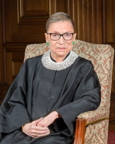 This photo is of the Supreme Court Justice Ruth Bader Ginsburg as she served on the Court. She was the second woman ever to be on the Supreme Court. (Photo courtesy of Wikipedia/via https://en.wikipedia.org/wiki/Ruth_Bader_Ginsburg)