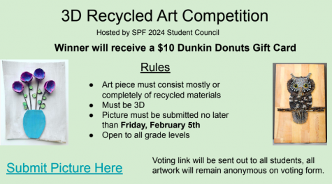 Student Council contest challenges students to create 3D recycled art
