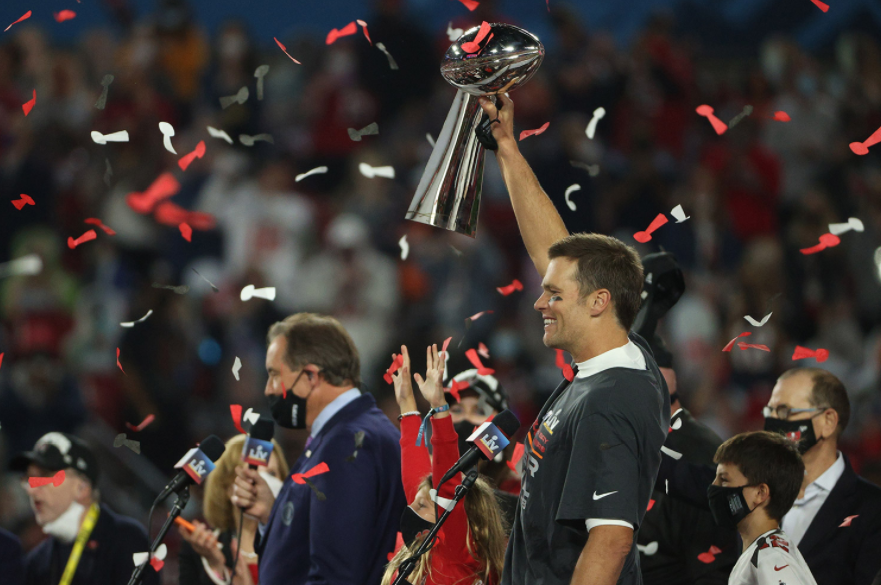 New team? No problem! Tom Brady wins yet another Superbowl!