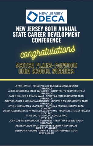 Multiple Scotch Plains-Fanwood students advance to DECA Nationals during this unprecedented year