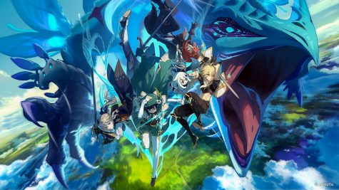 Five of the main characters from the prologue story of Genshin Impact. The game launched on September 28, 2020. Photo courtesy of miHoYo